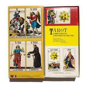 Vintage 1970's 1JJ Swiss Tarot Card Game Complete